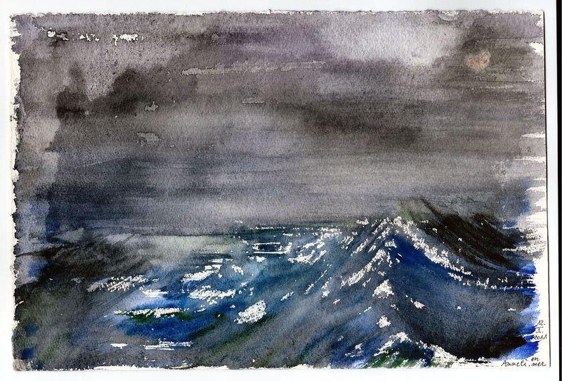 Mer sombre en janvier 2011